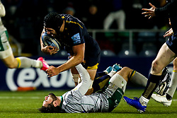 Graham Kitchener of Worcester Warriors is tackled by Henry Taylor of Northampton Saints - Mandatory by-line: Robbie Stephenson/JMP - 06/03/2020 - RUGBY - Sixways Stadium - Worcester, England - Worcester Warriors v Northampton Saints - Gallagher Premiership Rugby