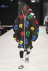 """© Licensed to London News Pictures. 02/06/2015. London, UK. Collection by Kate Cockburn, Edinburgh School of Art. Runway show """"Best of Graduate Fashion Week 2015"""". Graduate Fashion Week takes place from 30 May to 2 June 2015 at the Old Truman Brewery, Brick Lane. Photo credit : Bettina Strenske/LNP"""