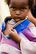 Refugee girl from Central African Republic in the village of Tongo Gandima, near Bertoua, Cameroon, on Tuesday September 15, 2009.