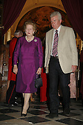 BARONESS THATCHER, Fund for Refugees in Slovenia Gala Dinner, The Great Hall. Royal Hospital. Chelsea. 12 June 2006. ONE TIME USE ONLY - DO NOT ARCHIVE  © Copyright Photograph by Dafydd Jones 66 Stockwell Park Rd. London SW9 0DA Tel 020 7733 0108 www.dafjones.com