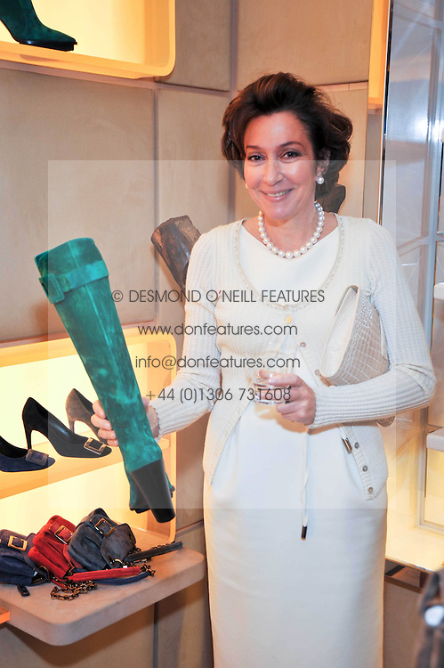 FRANCINE PETER at a party to celebrate the arrival of the 'A Princess to be a Queen' collection at the Roger Vivier boutique on Sloane Street, London on 20th October 2009.