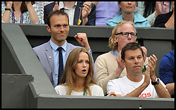 Wimbledon Tennis Championships.<br /> Andy Murray of Great Britain girlfriend Kim Sears during Murray's singles fourth round match with Spanish player Tommy Robredo at Centre Court on day 5 of The All England Lawn Tennis Club, Wimbledon, United Kingdom<br /> Friday, 28th June 2013 Wimbledon, United Kingdom<br /> Friday, 28th June 2013<br /> Picture by Andrew Parsons / i-Images