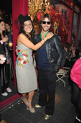 Party host GEORGINA HAMED and JAY KAY at the launch party for the shop 'Lost in Beauty' 117 Regents Park Road, London NW1 on 22nd April 2008.<br />