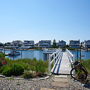 AVALON, NJ - JUNE 10, 2017: A view of the private dock and the harbor behind the house. 4738 Ocean Dr, Avalon, NJ. Credit: Albert Yee for the New York Times