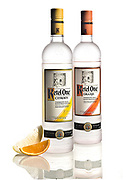 Ketel One lemon and orange flavored vodkas.<br /> ///ADDITIONAL INFORMATION: food.FlavoredVodkas.0924 &ndash; 9/16/15 &ndash; NICK AGRO, ORANGE COUNTY REGISTER-BACKGROUND:<br /> <br /> Posted at 2pm to setup studio. Should setup for big soft lighting but alos switch to harder backlighting too.<br /> <br /> See Kyle in the newsroom for his thoughts on Weds. Begin shoot at 3pm. Work with Kyle on a design concept. <br /> <br /> Shoot fruit with vodka. This is probably best with big, softbox lighting but your call.<br /> <br /> Paul Hodgins will also be there and bringing some (hopefully) cool looking bottles. I might recommend shooting this with some softish front lighting but strong backlight to bring out the (hopefully) colors of the fruit drinks.<br /> <br /> Flavored vodkas: Bo has spoken to Greenbar LA, St. George and Ketel One. Story by Paul Hodgins and Bo McMillan.