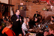 """Mike Webb (standing, left) and Jerry Francis during Mayhem & Mystery's production of """"Fashion Friction"""" at the Spaghetti Warehouse in downtown Dayton, Monday, March 21, 2011."""