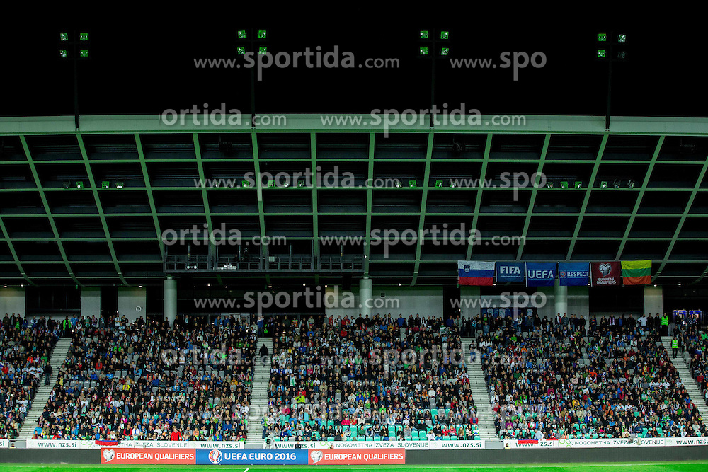 Stadium during the EURO 2016 Qualifier Group E match between Slovenia and Lithuania, on October 9, 2015 in SRC Stozice, Ljubljana Slovenia. Photo by Vid Ponikvar / Sportida