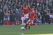 Tiago Silva  lines up a free kick during the EFL Sky Bet Championship match between Nottingham Forest and Luton Town at the City Ground, Nottingham, England on 19 January 2020.