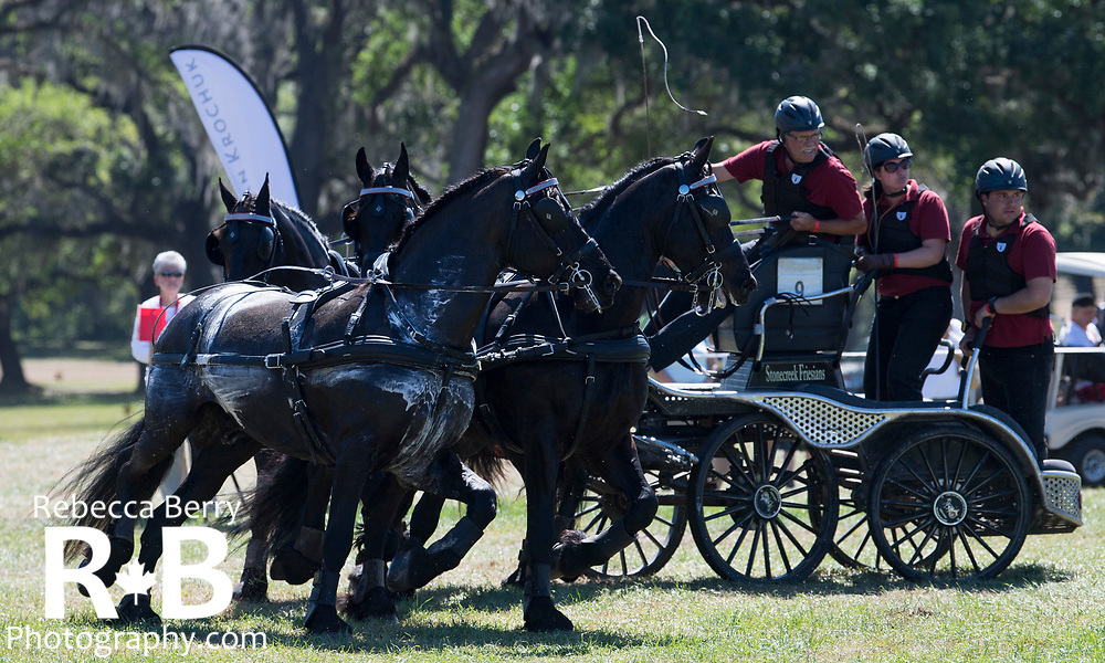 Gerben Steenbeek (CAN) and his team during the marathon at Live Oak International - Ocala, Florida - March 17, 2018 - Rebecca Berry
