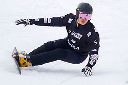 Sangho Lee (KOR) during Final Run at Parallel Giant Slalom at FIS Snowboard World Cup Rogla 2019, on January 19, 2019 at Course Jasa, Rogla, Slovenia. Photo byJurij Vodusek / Sportida