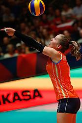20180529 NED: Volleyball Nations League Netherlands - Poland, Apeldoorn<br />Femke Stoltenborg (2) of The Netherlands <br />©2018-FotoHoogendoorn.nl