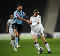 Milton Keynes Dons/Scunthorpe United Coca Cola League One 06.12.08 <br /> Photo: Tim Parker Fotosports International<br /> Tore Andre Flo MK Dons & Matthew Sparrow Scunthorpe Utd