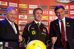 04.10.2011, Oberwart, AUT, OeFB, Praesentation Nationalteam Trainer, im Bild Leo Windtner mit Marcel Koller und Willi Ruttensteiner // during the presentation of the new OeFB coach in Oberwart, AUT, on 2011-10-04, EXPA Pictures © 2011, PhotoCredit: EXPA/ Erwin Scheriau