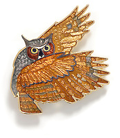 owl pin jewelry