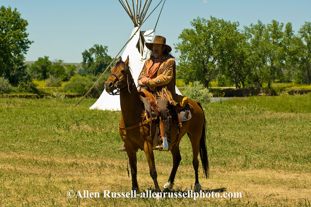 Battle of the Little Bighorn Reenactment, Crow Indian Reservation, Montana, 7th Cavalry scout, <br /> MODEL RELEASED