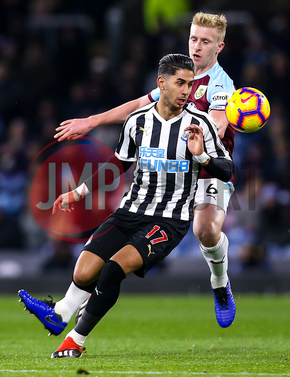Ayoze Perez of Newcastle United takes on Ben Mee of Burnley - Mandatory by-line: Robbie Stephenson/JMP - 26/11/2018 - FOOTBALL - Turf Moor - Burnley, England - Burnley v Newcastle United - Premier League