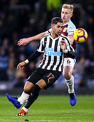 Ayoze Perez of Newcastle United takes on Ben Mee of Burnley - Mandatory by-line: Robbie Stephenson/JMP - 26/11/2018 - FOOTBALL - Turf Moor - Burnley, England - Burnley v Newcastle United - Premier League