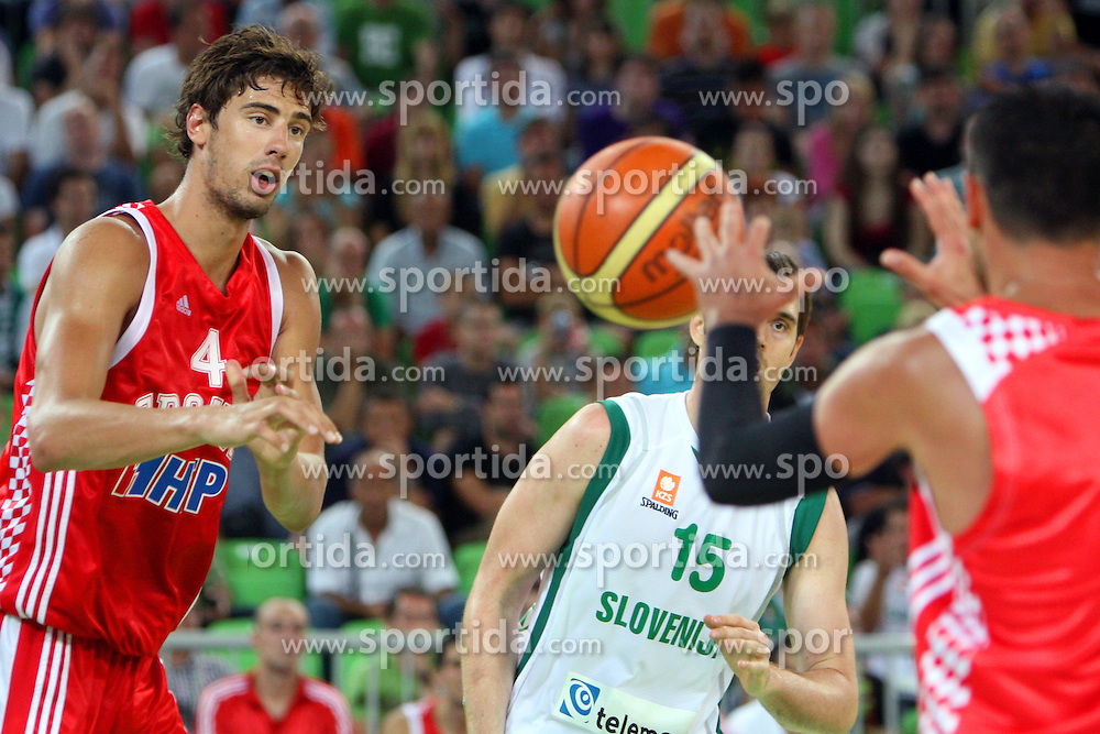Luka Zoric of Croatia at friendly match between Slovenia and Croatia for Adecco Cup 2011 as part of exhibition games before European Championship Lithuania on August 8, 2011, in SRC Stozice, Ljubljana, Slovenia. (Photo by Urban Urbanc / Sportida)