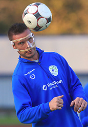 Anton Zlogar (16) with broken nose at practice of Slovenian men National team, on October 13, 2008, in Domzale, Slovenia.  (Photo by Vid Ponikvar / Sportal Images)