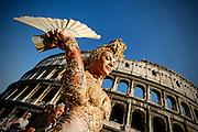 2013/06/15 Roma, corteo del Gay Pride 2013. Nella foto una manifestante.<br /> Rome, Gay Pride rally 2013. In the picture a queer - &copy; PIERPAOLO SCAVUZZO