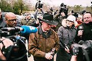 GALLANT, AL – DECEMBER 12, 2017: Judge Roy Moore, the Republican candidate in Alabama's Special General Election for the United States Senate, approaches the voting station at the Gallant Fire Department.  CREDIT: Bob Miller for The New York Times