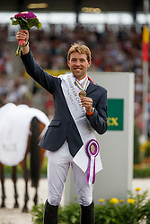 iIndividual podium, Delestre Simon, (FRA)<br /> Individual Final Competition round 2<br /> FEI European Championships - Aachen 2015<br /> © Hippo Foto - Dirk Caremans<br /> 23/08/15