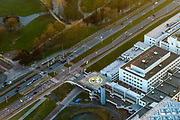 Nederland, Zuid-Holland, Rotterdam, 07-02-2018; centrum Rotterdam met Erasmus MC Dijkzigt met trauma helikopter.<br /> City centre Rotterdam Erasmus medical centre.<br /> <br /> luchtfoto (toeslag op standard tarieven);<br /> aerial photo (additional fee required);<br /> copyright foto/photo Siebe Swart
