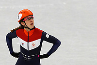 GANGNEUNG , 20-02-2018 , Gangneung Oval , 1000 meter dames series , Suzanne Schulting <br /> <br /> foto: Henk Jan Dijks