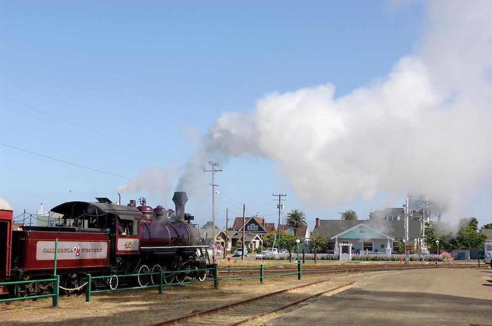 Skunk Train, California Western Railroad, Fort Bragg, California, United States of America