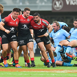 Scrum of Toulouse  during the Top 14 match between Montpellier and Toulouse on October 19, 2019 in Montpellier, France. (Photo by Alexandre Dimou/Icon Sport) - --- - Altrad Stadium - Montpellier (France)