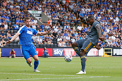 Wes Morgan of Leicester City shoots at goal - Mandatory by-line: Ryan Crockett/JMP - 21/07/2018 - FOOTBALL - Meadow Lane - Nottingham, England - Notts County v Leicester City - Pre-season friendly