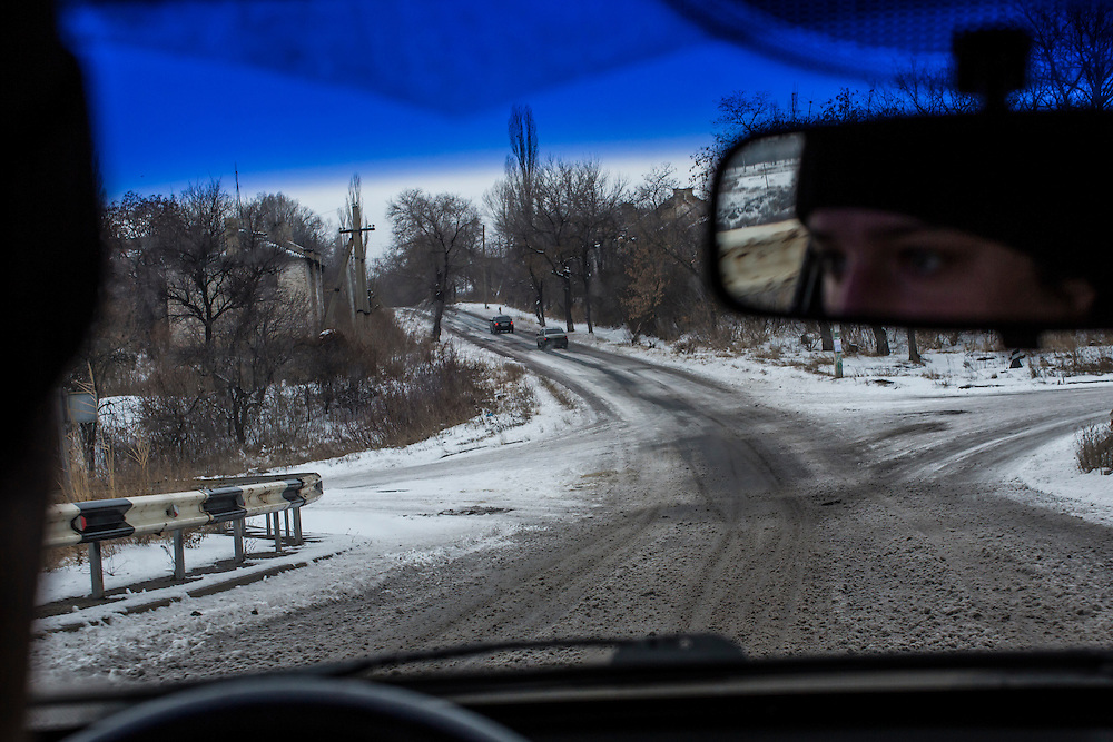 PERVOMAISK, UKRAINE - DECEMBER 8, 2014: The road in Pervomaisk, Ukraine. CREDIT: Brendan Hoffman for The New York Times