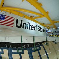 Space Shuttle Endeavour (OV-105) port side wing with the RCC panels