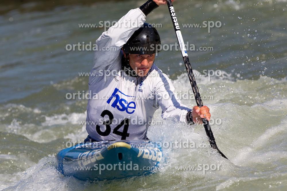 Anze Bercic of Slovenia competes during semifinal race at ICF Canoe Slalom World Cup Sloka 2011, on June 25, 2011, in Tacen, Ljubljana, Slovenia. (Photo by Vid Ponikvar / Sportida)