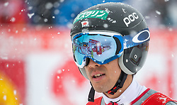 31.01.2016, Casino Arena, Seefeld, AUT, FIS Weltcup Nordische Kombination, Seefeld Triple, Skisprung, im Bild Akito Watabe (JPN, 2.Platz) // 2nd placed Akito Watabe of Japan reacts after his Competition Jump of Skijumping of the FIS Nordic Combined World Cup Seefeld Triple at the Casino Arena in Seefeld, Austria on 2016/01/31. EXPA Pictures © 2016, PhotoCredit: EXPA/ Jakob Gruber