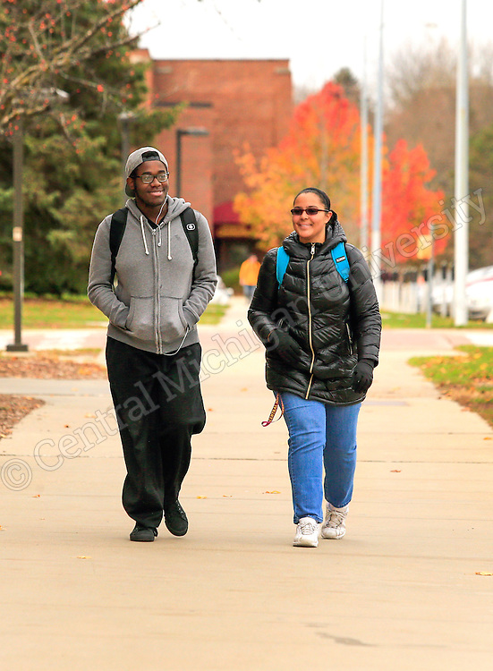 A very mild November day outside the University Center on the campus of Central Michigan University. Photo by Steve Jessmore/Central Michigan University