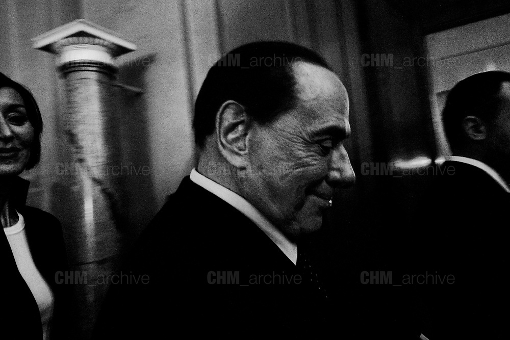 Silvio Berlusconi speaks to the press after a meeting with Italian President Sergio Mattarella during the consultations of political parties at the Quirinale palace in Rome on  5 April 2018. Christian Mantuano / OneShot