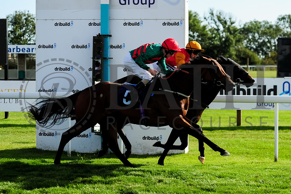 Moutain Peak ridden by Liam Keniry and trained by Ed Walker in the Sds Water Management Handicap race. Walk On Walter ridden by Nicola Currie and trained by Jonathan Portman in the Sds Water Management Handicap race.  - Ryan Hiscott/JMP - 14/09/2019 - PR - Bath Racecourse - Bath, England - Race Meeting at Bath Racecourse