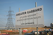 Greater Gabbard off shore windfarm on shore sub station facility, Sizewell, Suffolk, England
