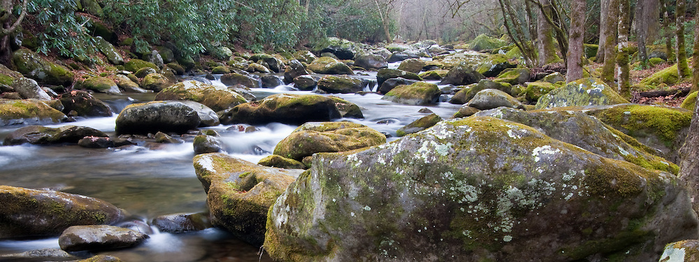 River and boulders, Great Smoky Mountains National Park