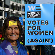 Thousands assembly at Park lane march to Parliament Square.  March for the Future - People's Vote and March for a Final Say - Brexit Deal Referendum Campaign on 20 October 2018.