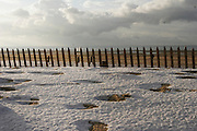 December 27th 2005. Le Touquet (Nord Pas de Calais), France..Winter snow on the beach.
