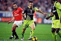 FOOTBALL - FRENCH CHAMPIONSHIP 2010/2011 - L1 - PARIS SAINT GERMAIN v FC LORIENT - 2/04/2011 - PHOTO GUY JEFFROY / DPPI - JEREMY MOREL (LOR)