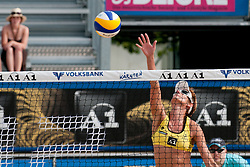 Andreja Vodeb of Slovenia at A1 Beach Volleyball Grand Slam tournament of Swatch FIVB World Tour 2010, on July 27, 2010 in Klagenfurt, Austria. (Photo by Matic Klansek Velej / Sportida)