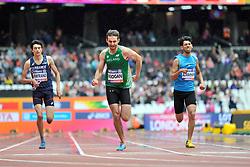 22/07/2017 : Paul Keogan (IRL), Valentin Bertrand (FRA), Sajjad Alwahhah (IRQ), T37, Men's 400m, Heat, at the 2017 World Para Athletics Championships, Olympic Stadium, London, United Kingdom
