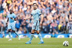 Frank Lampard of Manchester City looks on during his debut against former club Chelsea - Photo mandatory by-line: Rogan Thomson/JMP - 07966 386802 - 21/08/2014 - SPORT - FOOTBALL - Manchester, England - Etihad Stadium - Manchester City v Chelsea FC - Barclays Premier League.