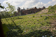 Wasteground behind the buildings of Dulwich hospital in south London.