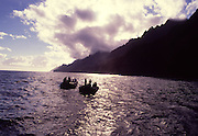Zodiak, Napali Coast, Kauai, Hawaii, USA<br />