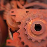 Rusted Gears - Pottsville - Merlin, Oregon - Lensbaby