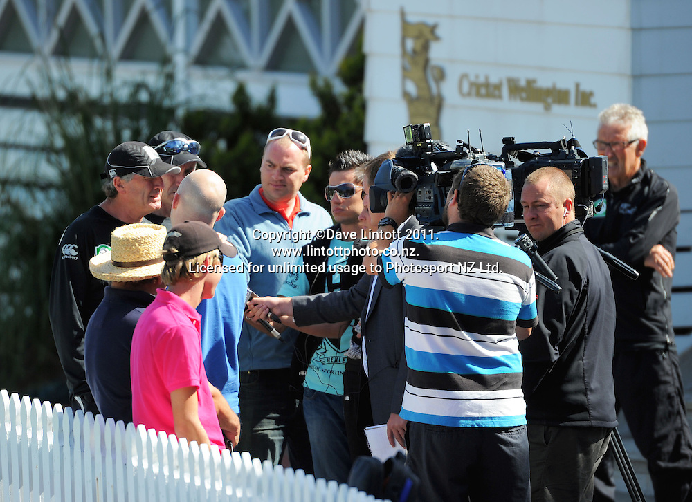 Black Caps coach John Wright faces the media. Black Caps cricket training at Allied Prime Basin Reserve, Wellington, New Zealand on Thursday, 13 January 2011. Photo: Dave Lintott / photosport.co.nz